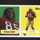 Vernon Davis 8 of 22 SF 49ers 2006 Topps Turn Back the Clock