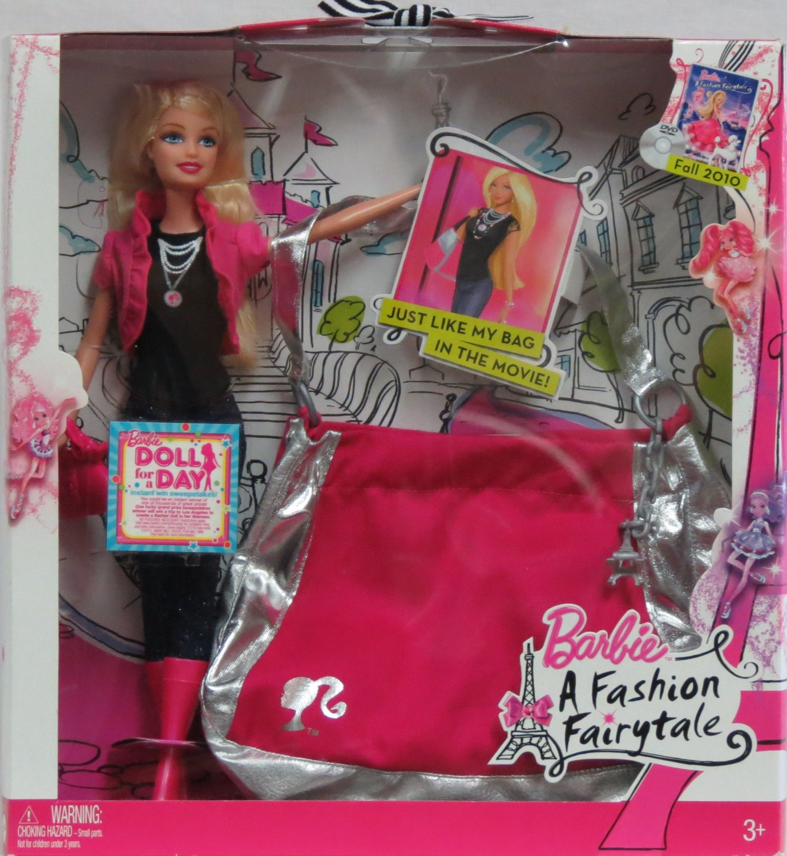 Barbie A Fashion Fairytale Doll/ Fashion Purse