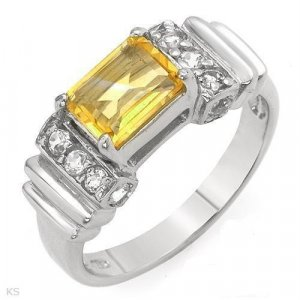 Sterling Silver Citrine & Topaz Ladies Ring