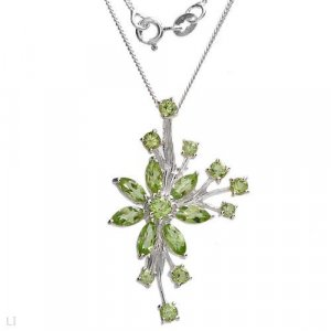 Sterling & Peridot Necklace/Brooch