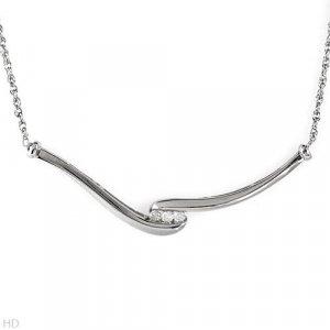 Sterling & Diamond Necklace