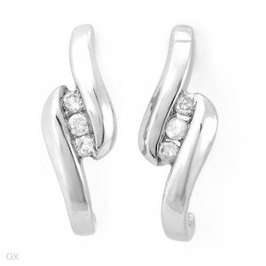 Sterling & Diamond Earrings