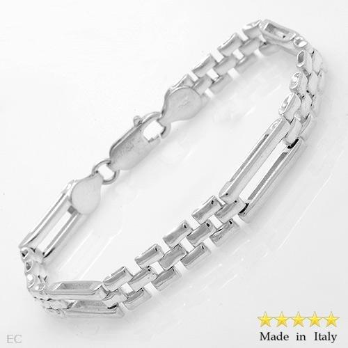 """Sterling Silver 7""""  Italian Link Bracelet"""