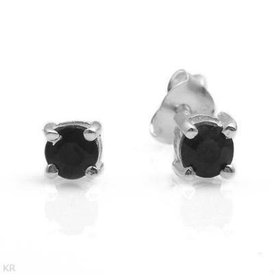Sterling & Blue Sapphire Earrings