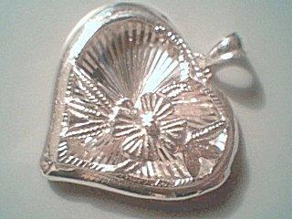 Sterling Silver Open Work Heart Pendant