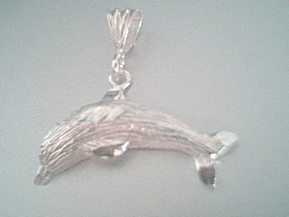 Sterling Silver DC Dolphin Pendant