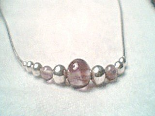 Liquid Silver Amethyst Necklace