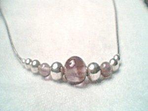 Liquid Silver Amethyst Necklace