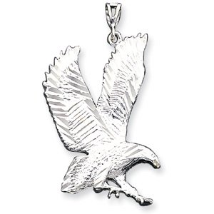 Sterling Silver Lg. DC Landing Eagle Pendant