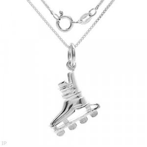 Sterling Silver Rollerblade Pendant w/chain