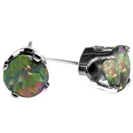 Sterling Green Fire Mystic Topaz Earrings