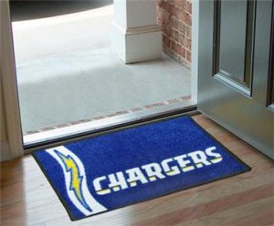 SAN DIEGO CHARGERS UNIFORM RUG JERSEY MAT NEW FREE SHIP