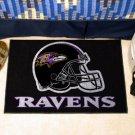 BALTIMORE RAVENS NFL FOOTBALL TEAM HELMET RUG GAME MAT