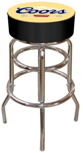 COORS BEER BOTTLE BANQUET BAR STOOL PUB CHAIR FREE SHIP