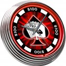 ROYAL FLUSH SPADE CARDS POKER CHIP NEON CLOCK FREE SHIP