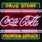 COCA COLA COKE DRUG STORE SODA POP FOUNTAIN NEON SIGN
