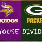 MINNESOTA VIKINGS GREEN BAY PACKERS GAME RUG FREE SHIPP