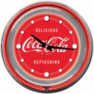 VINTAGE COCA COLA COKE SODA POP AD NEON SIGN WALL CLOCK
