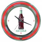 NEW COKE COCA COLA SODA POP BOTTLE NEON SIGN WALL CLOCK