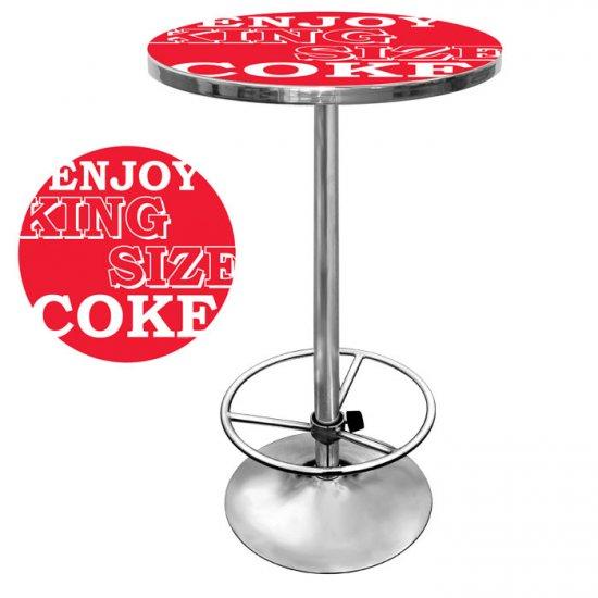 KING SIZE COKE COCA COLA RETRO DINER ROOM PUB TABLE NEW