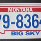 1982 POST CEREAL BICYCLE STATE LICENSE PLATE MONTANA