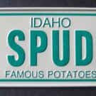 1982 POST CEREAL BOX  BICYCLE STATE LICENSE PLATE IDAHO