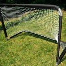 FOLDING STEEL HOCKEY PUCK SOCCER BALL PLAYER GOAL + NET