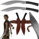 Resident Evil Zombie Movie Combat War Gurkha 2 Kukri Khukuri Machete Knife Knive Set 2