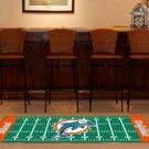 MIAMI DOLPHINS FOOTBALL FIELD RUG GAME MAT FREE SHIPPIN