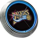 PHILADELPHIA 76ERS NBA BASKETBALL GAME TEAM NEON CLOCK