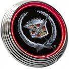Cadillac GM Hood Ornament Fender Trunk Emblem Neon Clock Sign