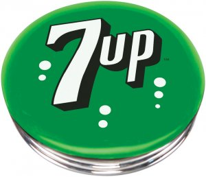 SEVEN UP 7UP SODA POP COLA BOTTLE BAR STOOL SEAT CHAIR