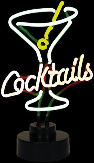 MARTINI GLASS COCKTAIL NEON LIGHT BAR SIGN (262007)