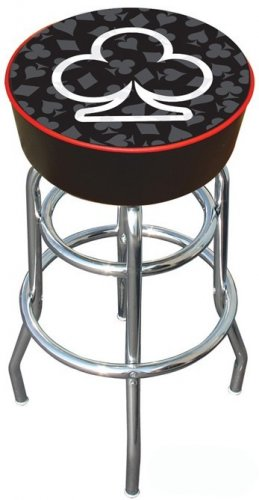 VEGAS CLUB POKER CARD BAR STOOL GAME CHAIR FREE SHIPPIN