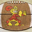 Valparaiso University Crusaders Football Shaped Rug Mat