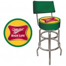 MILLER HIGH LIFE BEER BAR STOOL BACK CHAIR FREE SHIP