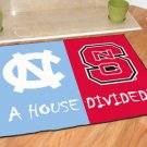NORTH CAROLINA TARHEELS VS NORTH CAROLINA STATE RUG MAT