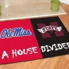 OLE MISS MISSISSIPPI STATE BULLDOGS GAME MAT TEAM RUG