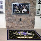 BALTIMORE RAVENS FOOTBALL TEAM AREA RUG GAME MAT 5X8