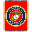 USMC MARINE CORPS GLOBE ANCHOR MILITARY BLANKET THROW