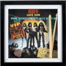 KISS LOVE GUN VIP PASS CONCERT TICKET 3D POSTER SIGN