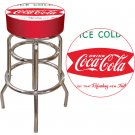 DRINK ICE COLD COCA COLA CHAIR COKE PUB CHAIR BAR STOOL