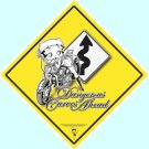 BIKER BETTY BOOP HARLEY MOTORCYCLE YIELD SIGN FREE SHIP
