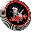 BETTY BOOP SEXY LEGS MINI SKIRT NEON CLOCK BAR SIGN NEW