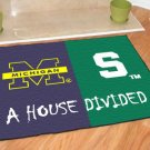 MICHIGAN WOLVERINES VS MICHIGAN STATE SPARTANS RUG MAT