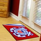 USCG US COAST GUARD MILITARY MARITIME MAT RUG FREE SHIP