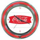 DRINK COKE COCA COLA SODA POP BOTTLE NEON SIGN CLOCK