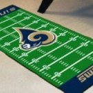 ST LOUIS RAMS NFL FOOTBALL FIELD RUG GAME MAT FREE SHIP