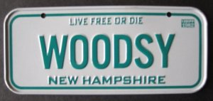 1982 CEREAL BICYCLE STATE LICENSE PLATE NEW HAMPSHIRE
