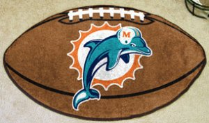 MIAMI DOLPHINS NFL FOOTBALL TEAM RUG GAME MAT FREE SHIP